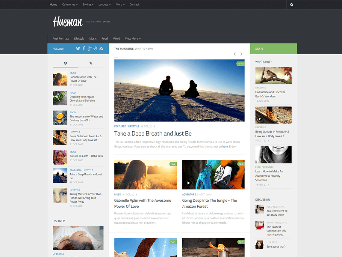 hueman wordpress